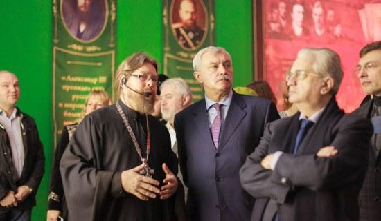 Архимандрит Тихон, Георгий Полтавченко и Михаил Пиотровский